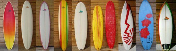 Planches de surf customs shapées main par Hugo Domenech